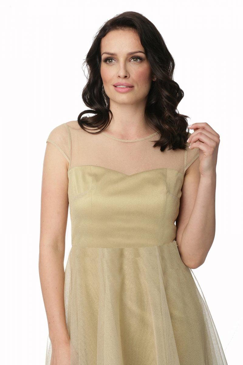 Tiulowa sukienka Dorota