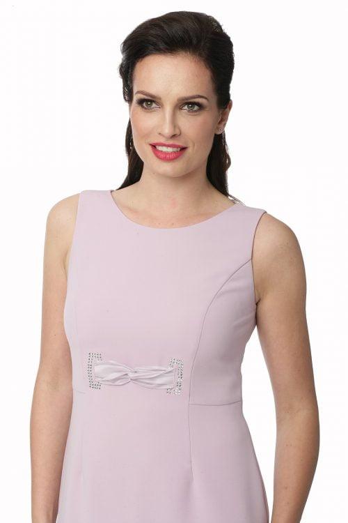 Wrzosowa sukienka z kamieniami Swarovskiego Otylia