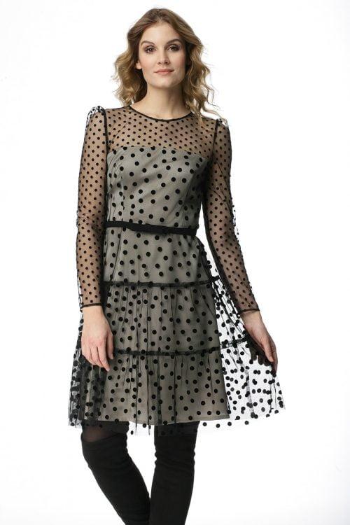 Sukienka z tiulu w kropki Marzena