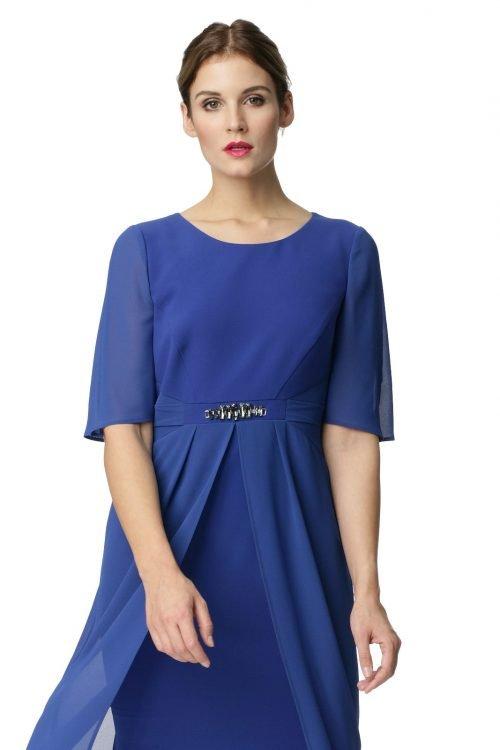 Elegancka sukienka w kolorze kobaltowym Barbara