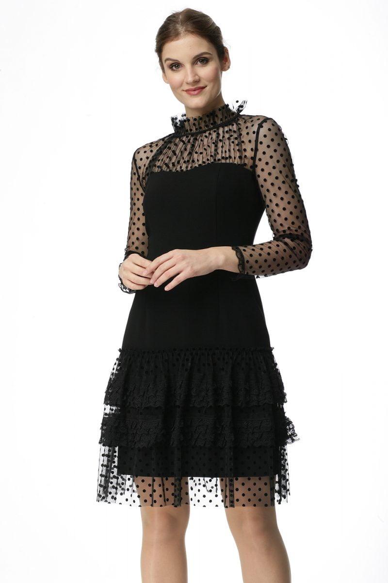 Sukienka z falbankami z koronki Karina