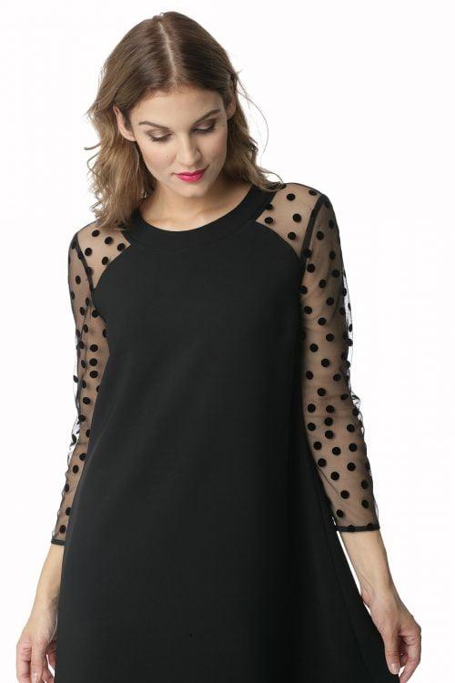 Trapezowa sukienka w kolorze czarnym Zosia