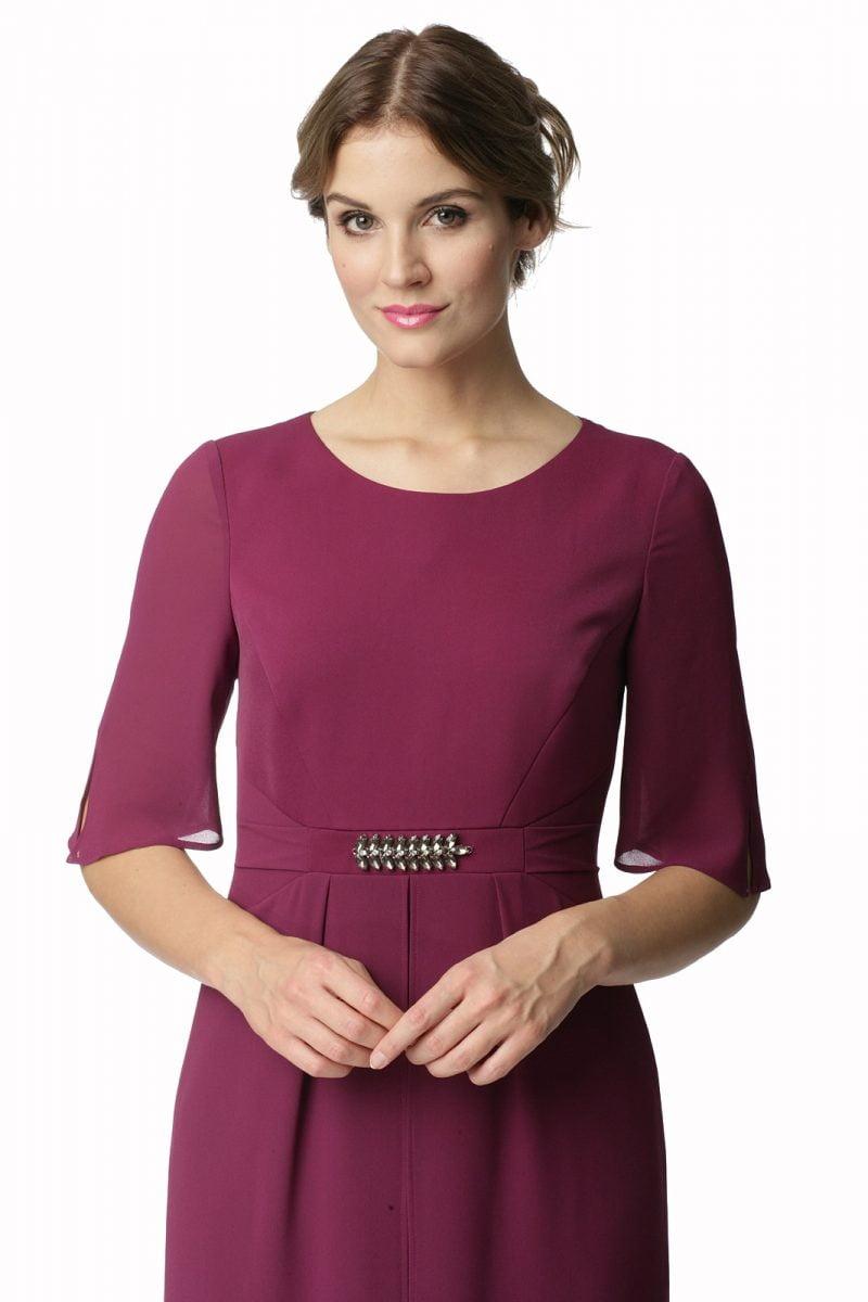 Elegancka sukienka w kolorze cyklamenowym Barbara