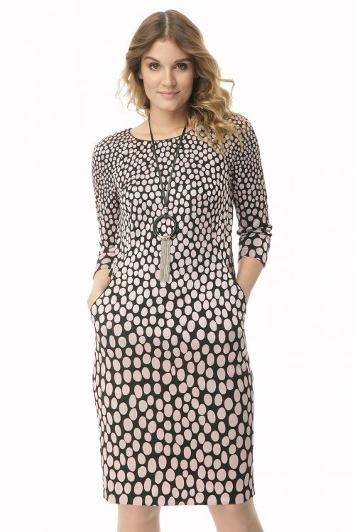 Dzianinowa sukienka z kieszeniami Lena