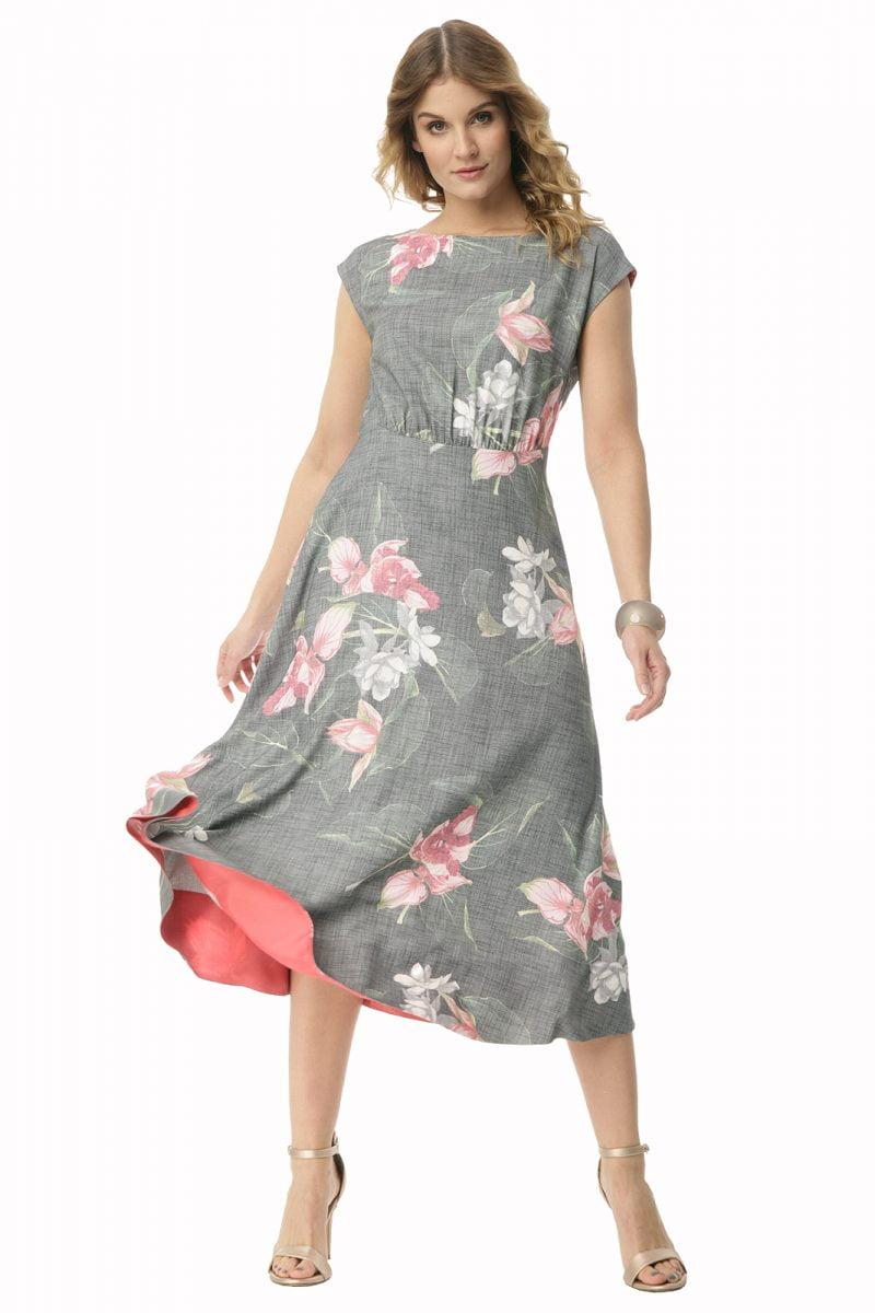 Długa sukienka w kwiaty Weronika