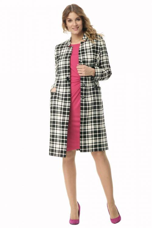 Wiosenny płaszcz w modną kratę Jowita
