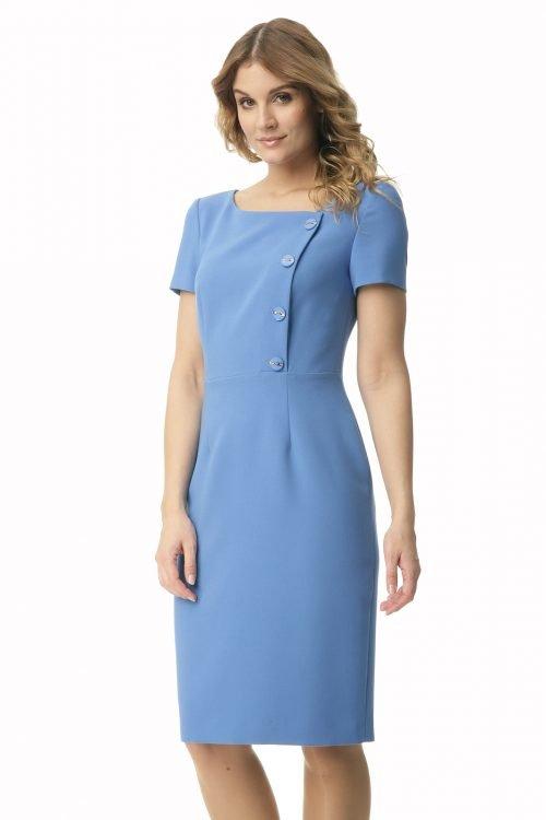 Sukienka z guzikami w kolorze niebieskim Megi