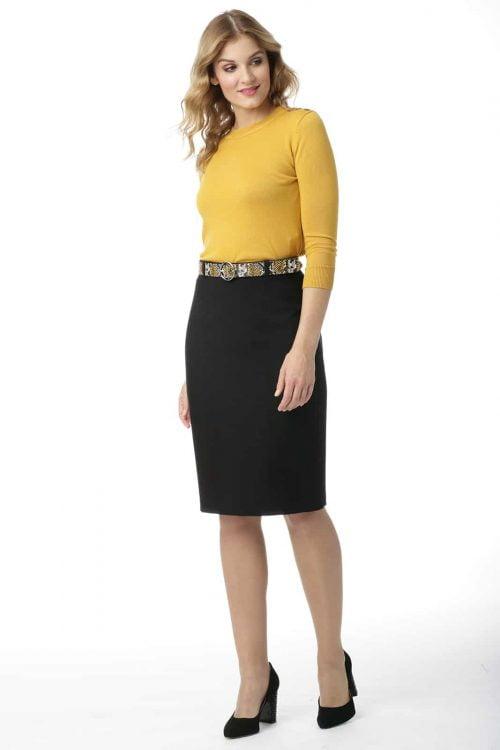 Spódnica klasyczna w czarnym kolorze Alina