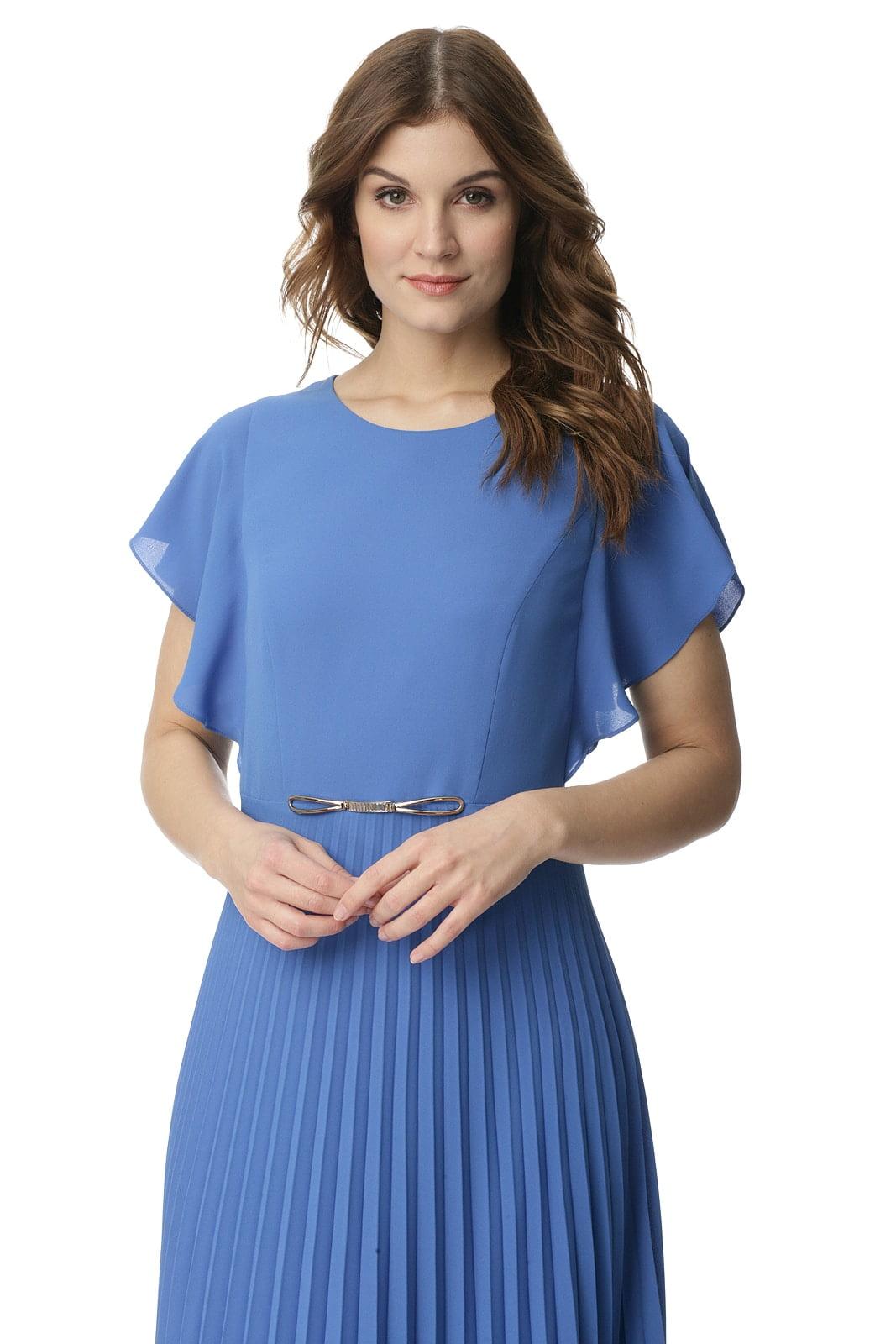 d591ba20b1 Niebieska sukienka z plisowanym dołem Mariola - Modesta - ponad 30 ...