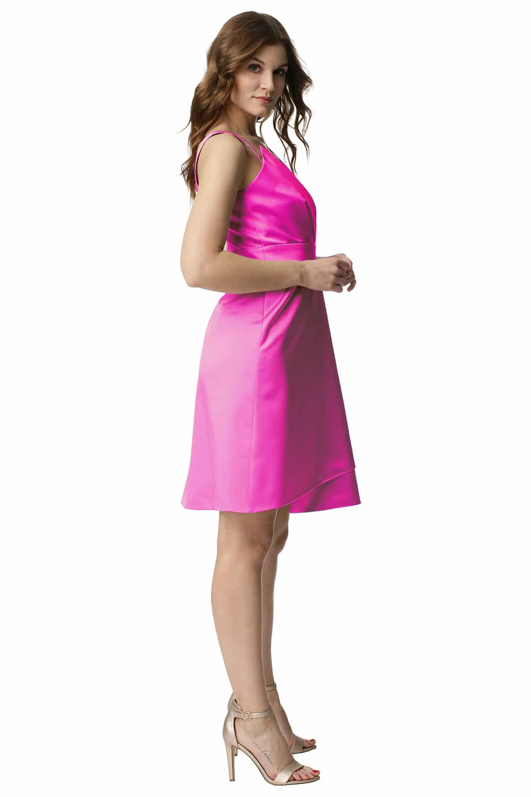 f67adc59e0 Elegancka amarantowa sukienka Lidia - Modesta - ponad 30 lat na rynku