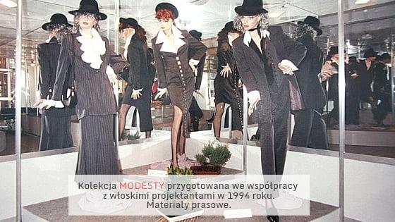 Kolekcja Modesty przygotowana wewspółpracy zwłoskimi projektantami.